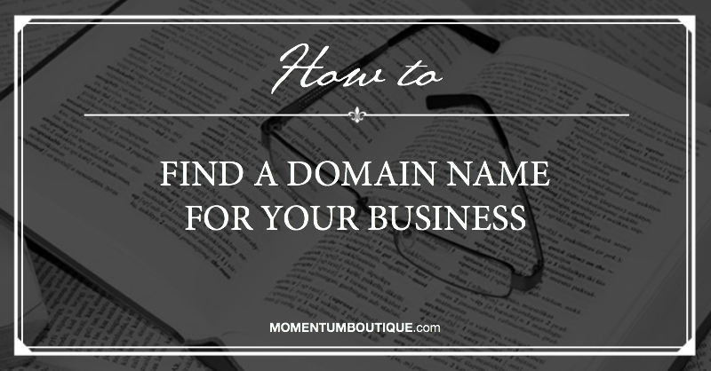 How to find a domain name